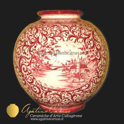 vasi caltagirone vasi caltagirone dipinti a mano vaso in ceramica goccia