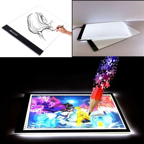 Drafting Table Pad A4 Led Light Stencil Board Box Tracing Drawing Table Pad Adapter Us Ebay