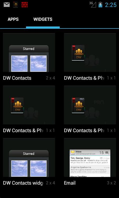 contact widget for android dw contacts widget android apps on play