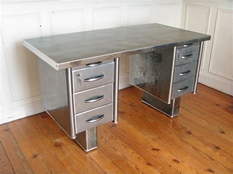 Mid Century Style bureau metal roneo style and steel jpg tables