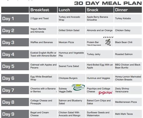 printable 30 day meal planner 30 day exercise plan calendar template 2016