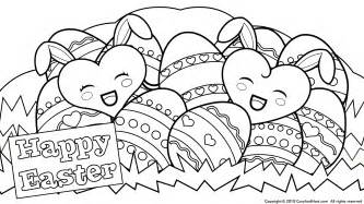 happy easter coloring pages easter eggs coloring pages