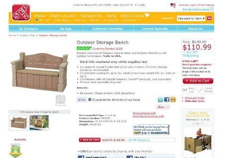 step 2 outdoor storage bench step2 outdoor storage bench on sale finding debra
