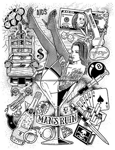 mans ruin tattoo s ruin poster mike flickr photo