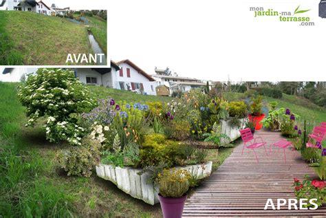 Amenagement Jardin En Pente 2646 by Am 233 Nagement D Un Terrain En Pente Monjardin Materrasse