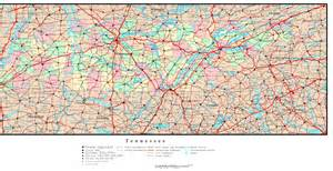 map of tennessee and carolina with cities tennessee political map