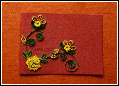 Handmade Quilling Greeting Cards - niketa s creative corner handmade quilled greeting card