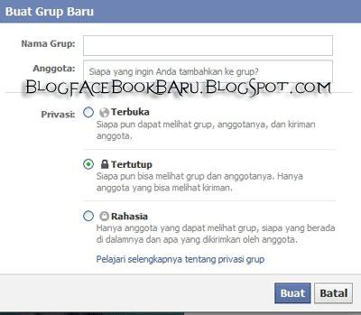 membuat facebook rahasia cara membuat grup facebook dengan memilih yang terbuka