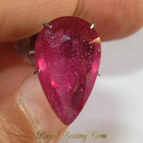 Cincin Lapis Emas Putih Batu Pink Rangka Tebal Bentuk Br212p batu mulia ruby pear shape purplish 6 80 carat