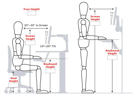 correct height for standing desk standing desk guide measurements exles and benefits