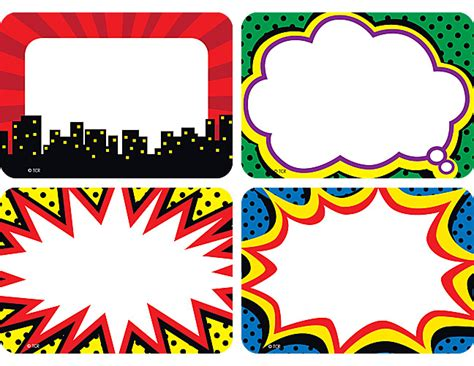 Iman Home Decor by Superhero Name Tags Labels Multi Pack Tcr5587