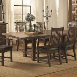 Tables Dining Room Furniture Coaster Furniture 105701 Padima Extendable Dining Table In Rustic Cognac Homeclick