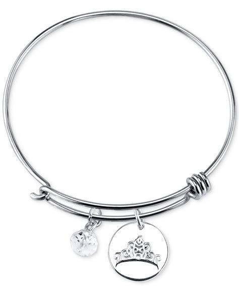 disney dreams charm bangle bracelet in sterling silver in