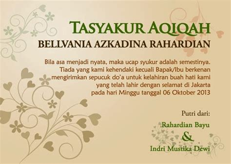 desain undangan contoh kartu berkat aqiqah review ebooks