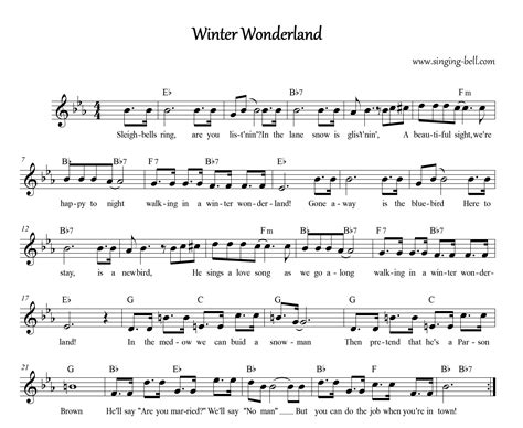 printable lyrics winter wonderland free christmas carols gt winter wonderland