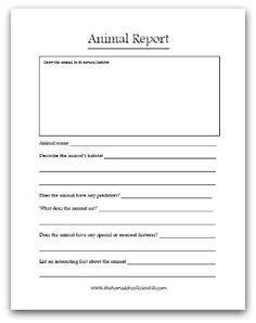 Animal Classification Worksheets And Activity Games On Pinterest Animal Report Template 5th Grade