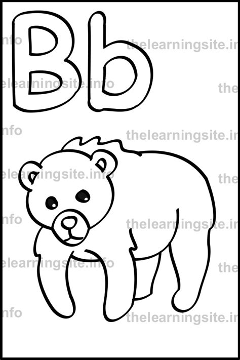 b bear coloring page 88 b bear coloring page happy color by number