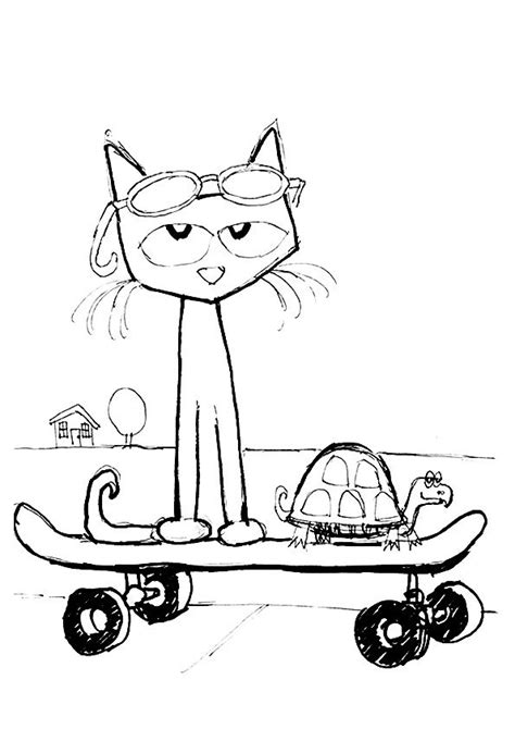 Pete The Cat Coloring Printable Pete The Cat Printables Coloring Home