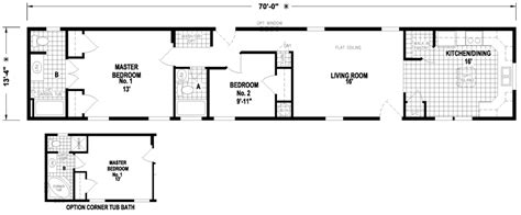 amazing 14x70 mobile home floor plan new home plans design
