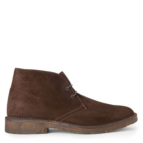 brown chukka boots ralph kelby split suede chukka boots in brown for