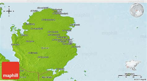 physical map of qatar physical panoramic map of qatar