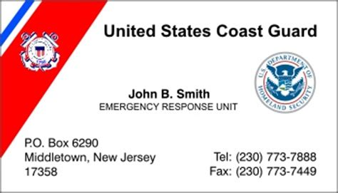free coast guard business card template uscg business cards gallery business card template