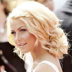 how to curl hair like julianne hough love this curly low bun with accented braid and julianne