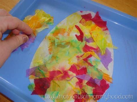 Tissue Paper Easter Crafts - tissue paper easter egg craft