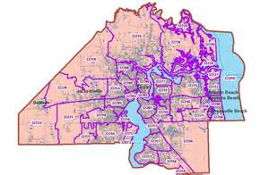 Duval County Zip Code Map by Duval County Zip Codes