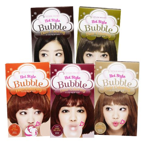 2 korean hair dye products to consider hair dye tips dvagoda com etude house new hot style bubble hair coloring 8 colors