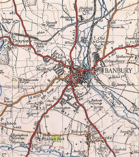 banbury map uk banburyshire maps banbury historical maps side by side