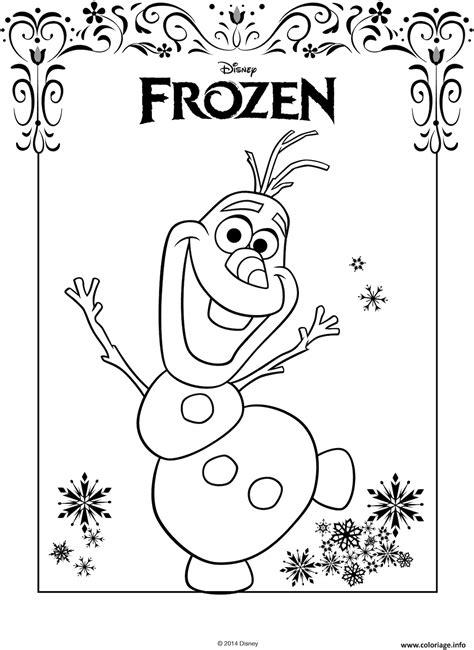 frozen logo coloring page coloriage olaf avec logo frozen de disney dessin