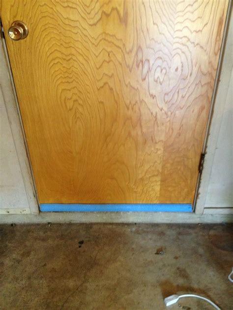 gap door no more gap garage door easy fix with a pool noodle