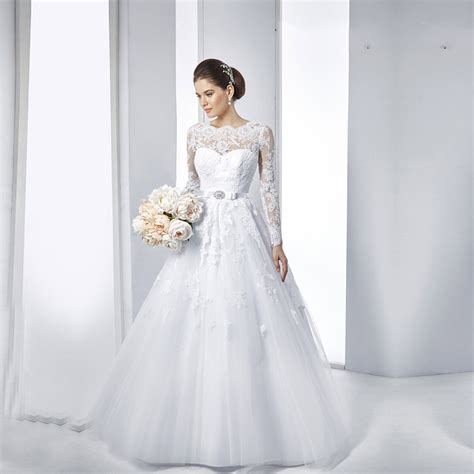 Wedding Dresses White by Aliexpress Buy Vestido De Noiva Lace Sleeve
