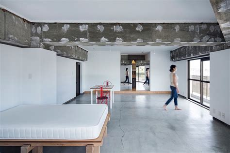 concrete floor apartment xchange apartments in kyoto japan by tank architects