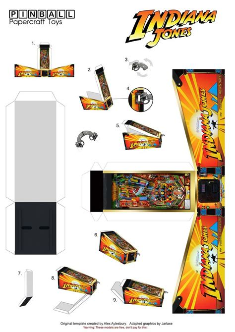 pinball card template imgur post miniatures to make papercraft