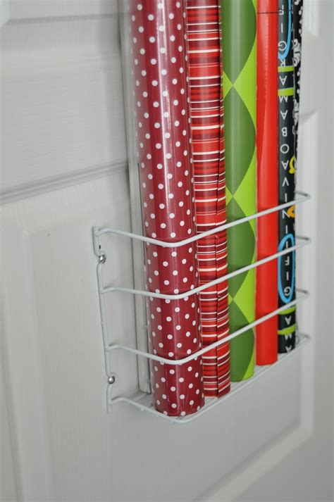 storage for gift wrapping paper she s crafty gift wrap organizer