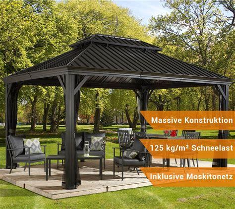 Aluminium Pavillon by Sojag Aluminium Pavillon Gazebo Messina 12x16 Inkl