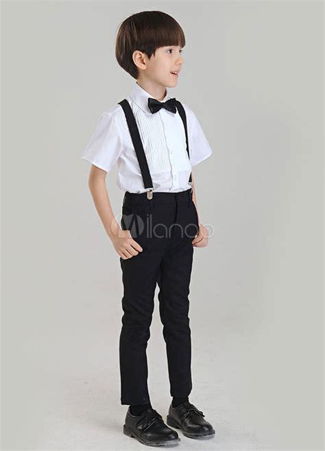 camisas para nino con corbata traje para ni 241 os de 3 piezas camisa tirantes pantalones