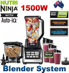 Nutri ninja 1500w blender system with auto iq technology healthy book
