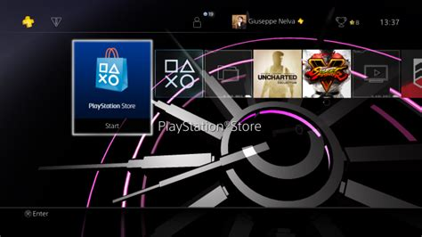 ps4 cool themes awesome ps4 theme puts color changing dynamic clock on