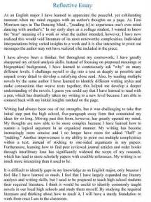 Higher Reflective Essay by Higher Reflective Essay Xyz