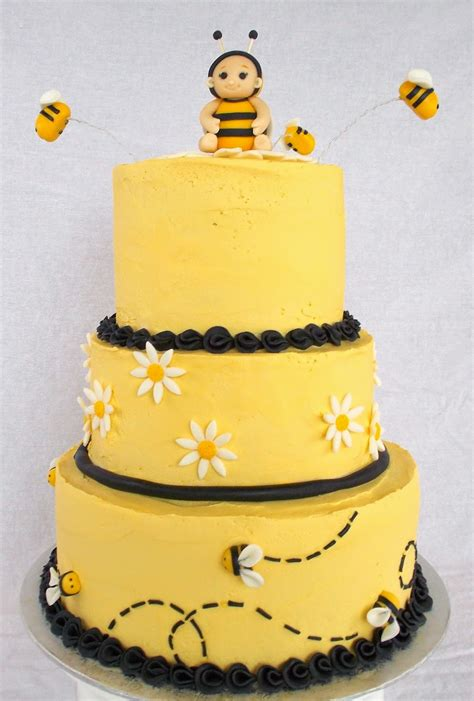 Bumble Bee Cakes For Baby Shower by Custom Cakes By Lori Bumble Bee Baby Shower Cake
