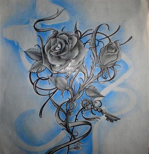 imagenes de rosas azules para dibujar tatujes de rosas para dibujar a lapiz imagui