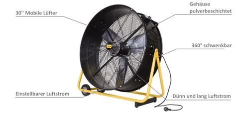 werkstatt ventilator mobile bodenventilatoren trommelventilator master df