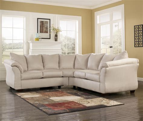 ashley darcy sectional ashley signature design darcy stone contemporary