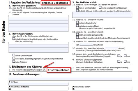 Kaufvertrag Auto Privat Muster by Auto Kaufvertag Privat Tipps Mustervertrag F 252 R