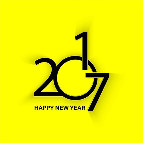 yellow background of new year 2017 vector free download