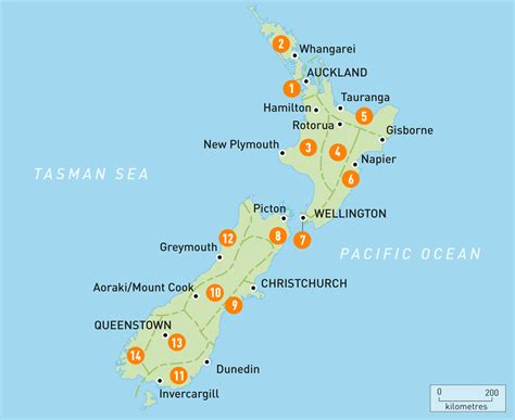 map of new zealand new zealand regions guides