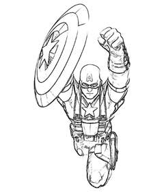 america coloring page captain america coloring pages
